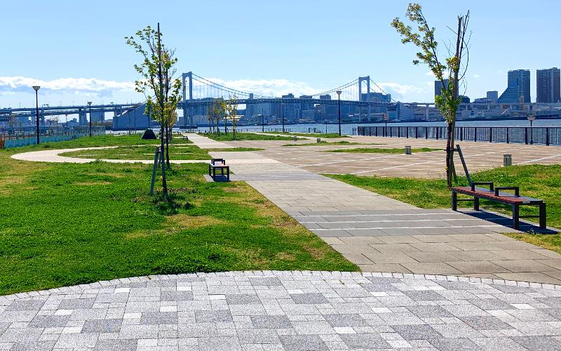 8月からプレオープン広場が晴海側へ移動